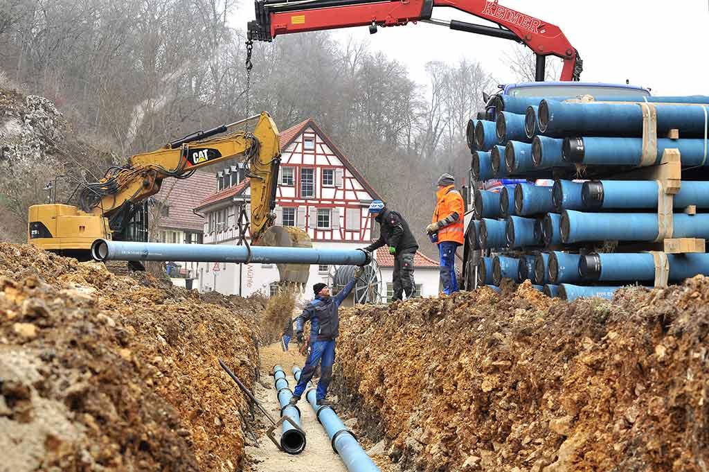 Rohrleitungsbau Kanalbau Mössingen Tübingen