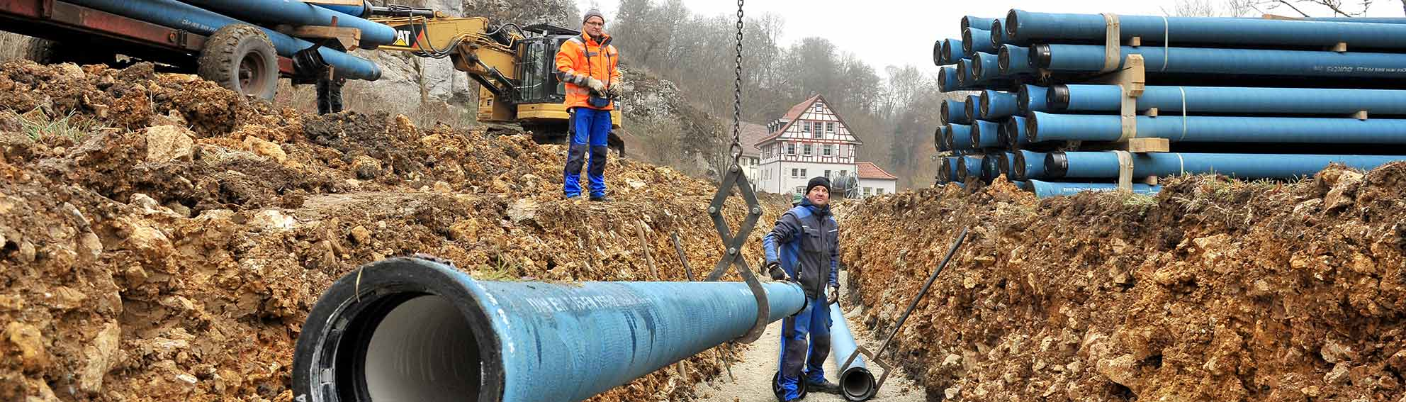 Kanalbau Rohrleitungsbau Mössingen Tübingen Flammer